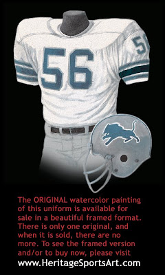 Detroit Lions 1974 uniform