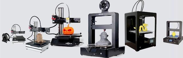 أنواع الطابعات ثلاثية اﻷبعاد