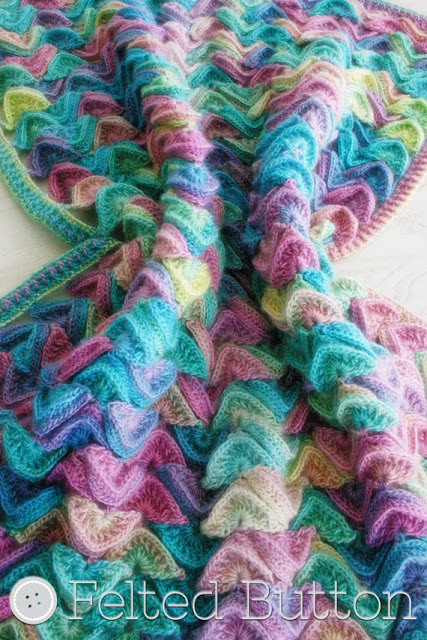 Sea Song Blanket Crochet Pattern by Susan Carlon of Felted Button