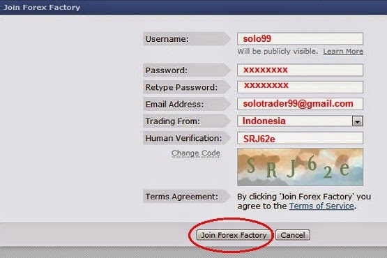 Cara join forex
