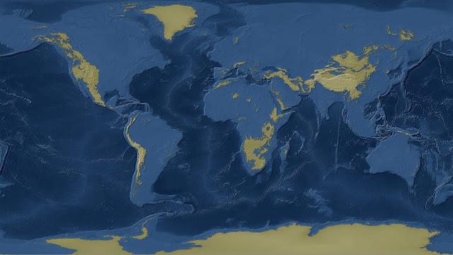 The world with one-kilometre sea-level rise