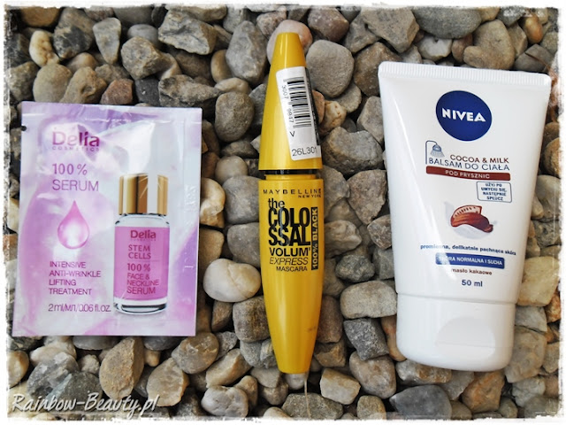 Maybelline, Tusz do rzęs the Colossal Volum' Express Mascara Nivea, Balsam do ciała pod prysznic