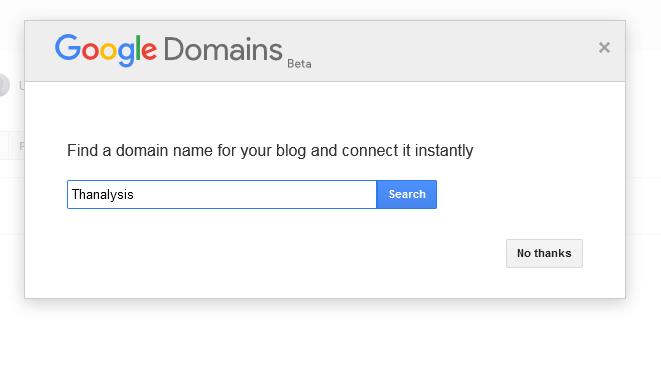 Google domain provider - Thanalysis