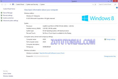 Melihat Informasi Sistem Windows 10, 8, 7 Lengkap by zotutorial.com