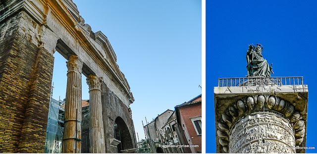 Roma Antiga: Pórtico de Otávia e Coluna de Marco Aurélio