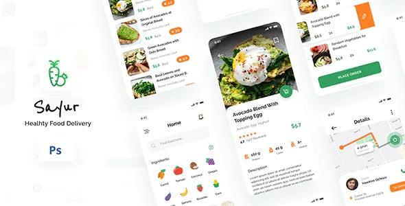 Best Healthy Food Delivery iOS UI App Design