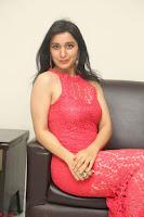 Sakshi Kakkar in Red Legsplit Sleeveless Gown at Dare movie Press meet ~  Exclusive 067.JPG
