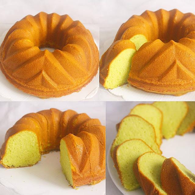 Resep Sajian Pandan Sponge Cake