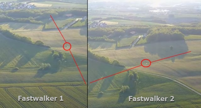 UFO News ~ Two UFOs Fastwalkers passing each other at the same point over Bavaria, Germany  plus MORE Fastwalker