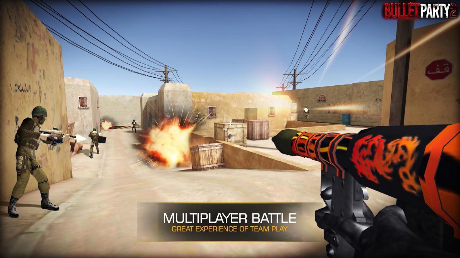 Bullet Party CS 2 GO STRIKE MOD APK terbaru