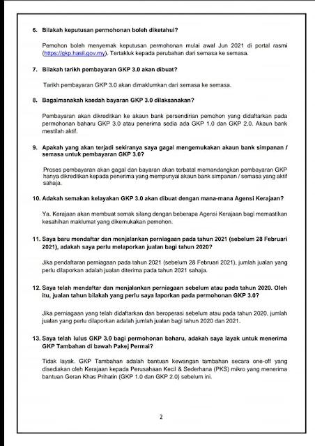 GKP 3.0: Ini Cara Memohon Bantuan One-Off RM1000 Untuk Permohonan Baru