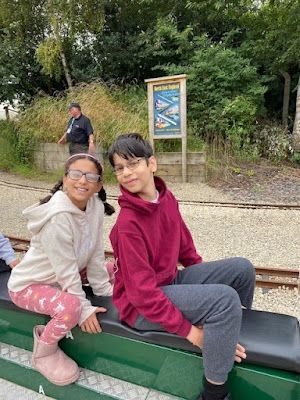 York Railway Museum small train ride outside