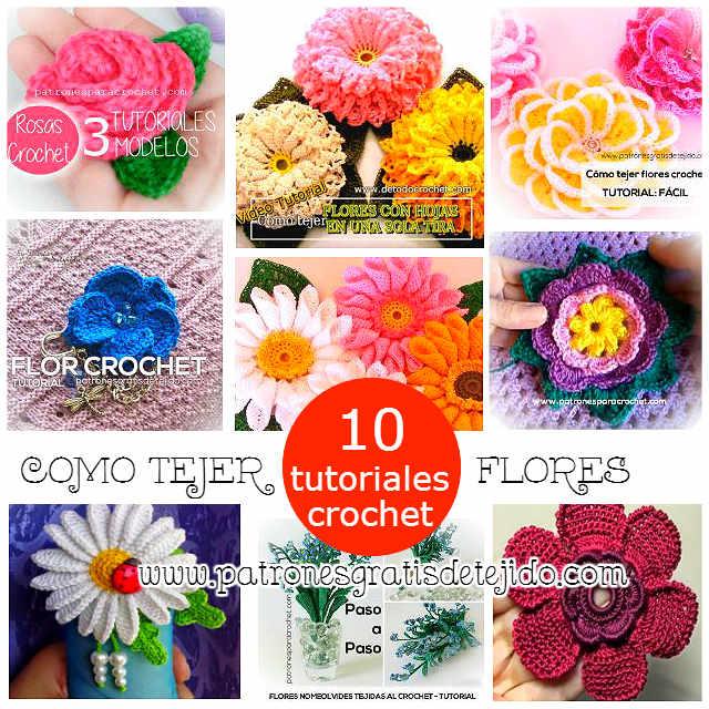 aprende a tejer flores con ganchillo