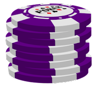 purple poker chip stack