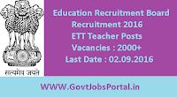 Education Recruitment Board Recruitment 2016