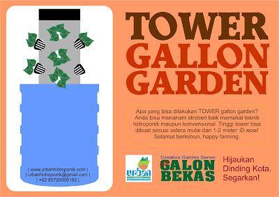 tower hidroponik galon bekas