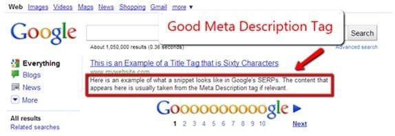 Fill the meta summary tag.