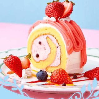 旬の苺のロールケーキ