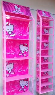 Rak Tas Rak Sepatu Hello Kitty Pink