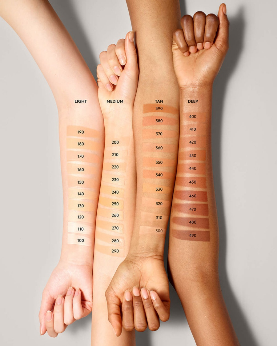 FENTY BEAUTY Pro Filt'r Soft Matte Longwear Foundation Swatches