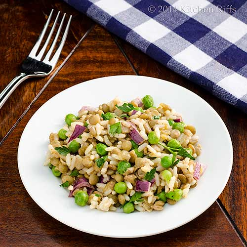 Lentil, Rice, and Pea Salad