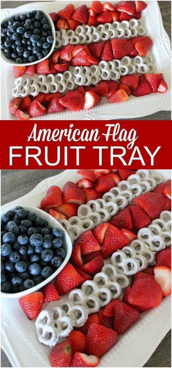 4th of July Fruit Platter Idea | How to Make an American Flag