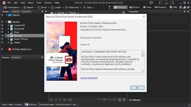 Screenshot ACDSee Photo Studio Professional 2020 v13.0 Build 1365 Full Version