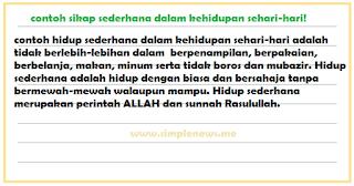 contoh sikap sederhana dalam kehidupan sehari-hari www.simplenews.me