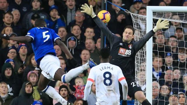 Kurt Zouma Everton Scores AFC Bournemouth