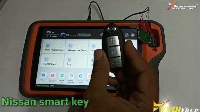 xhorse key tool plus Renew Nissan Micra Smart Key 1