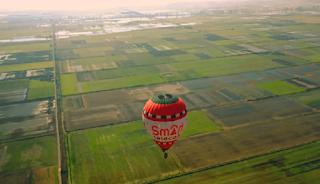 Οι εντυπωσιακές εικόνες που κατέγραψε ένα drone από αερόστατο (Βίντεο)