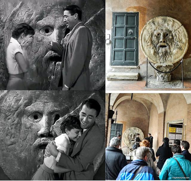 """Roma: a Boca da Verdade e o filme """"A Princesa e o Plebeu"""""""