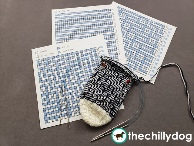 Deciphering mosaic knitting charts and 3 tips about slip stitch colorwork