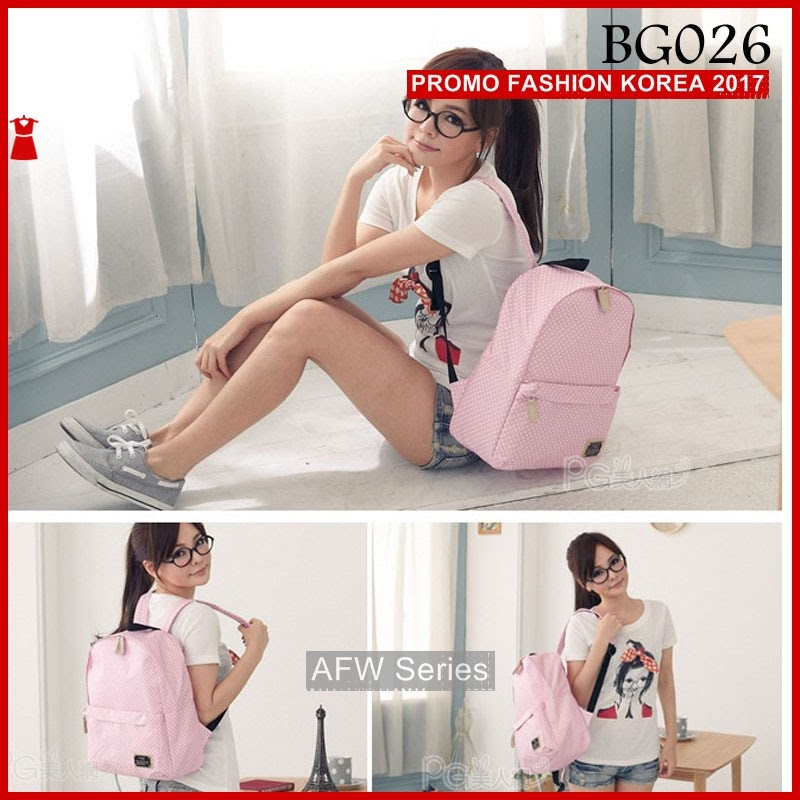 BAMFGW083 Pink Backpack Bag Wanita PROMO BMG