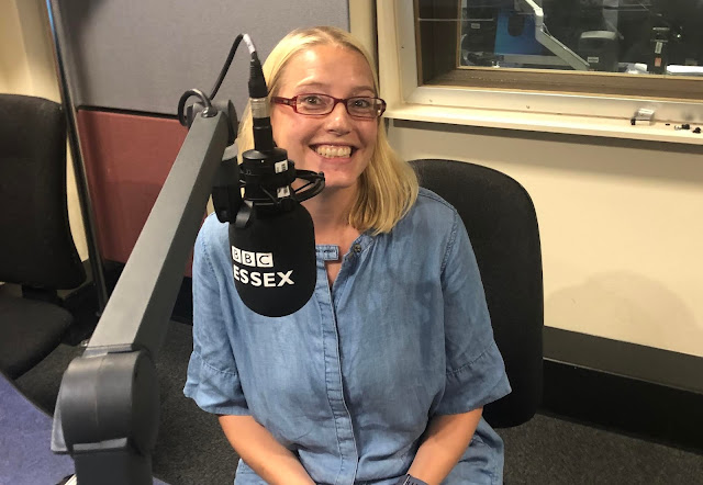 Me pulling a silly excitable face in the BBC Essex studio