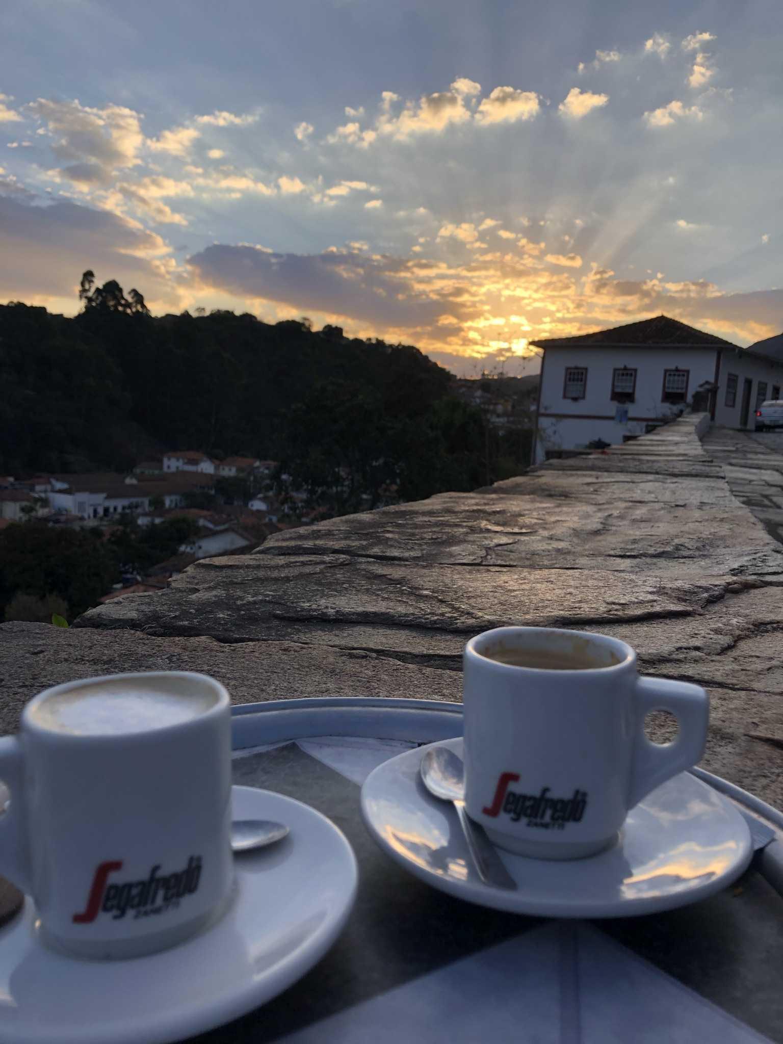 café pôr sol Ouro Preto