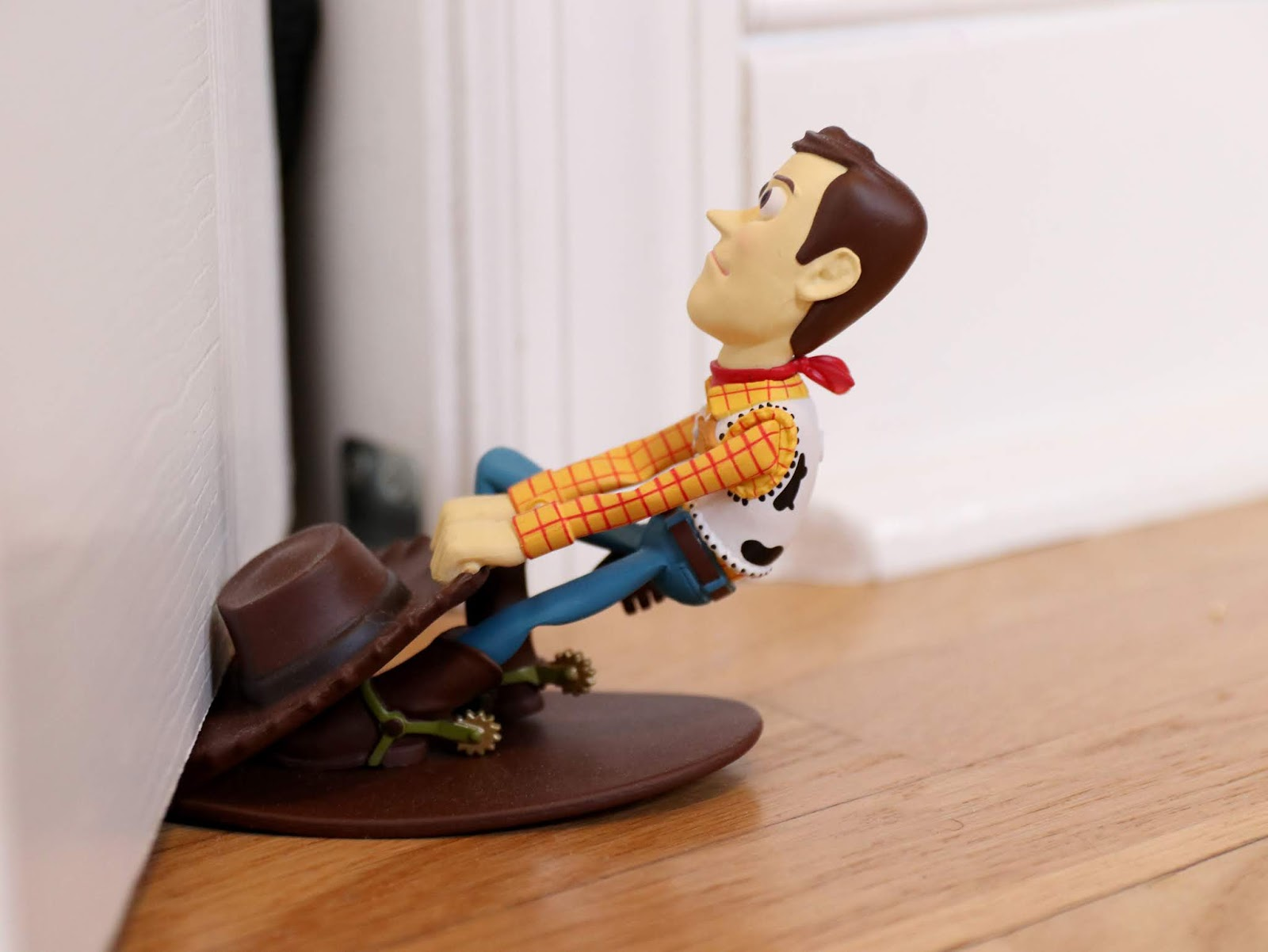 pixar themed home office woody door stop