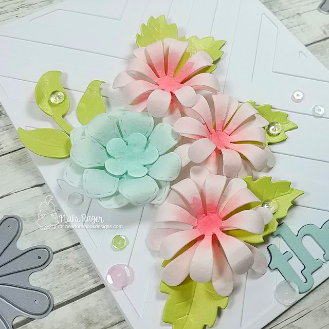 Newton's Nook Designs Flower Trio Die Set - Naki Rager