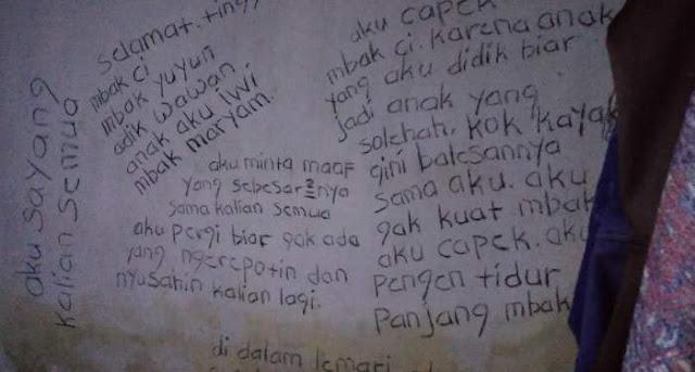 Bunuh Diri Kembali Terjadi di Bondowoso, Dinding Rumah Dipenuhi Coretan Tulisan Tangan