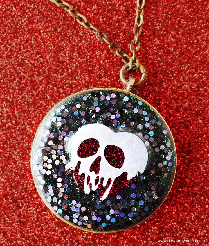DIY Resin Poison Apple Necklace