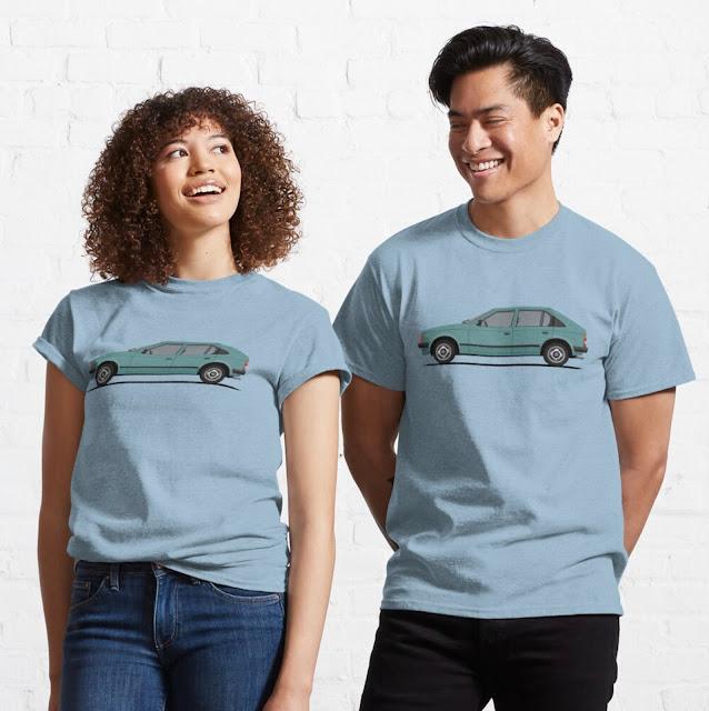 Opel Kadett D / Vauxhall Astra Mk1 t-shirts