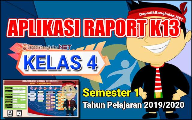 Aplikasi Raport Kelas 4 Semester 1 Kurikulum 2013 Revisi 2019