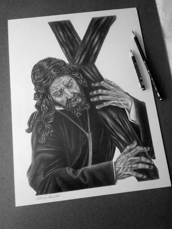 Papeleta Solidaria del Gran Poder de Granada para el Vía Crucis del Señor por su XXV Aniversario