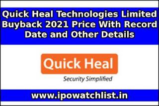 Quick Heal Technologies buyback