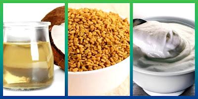Virgin oil & methi seeds & yoghurt