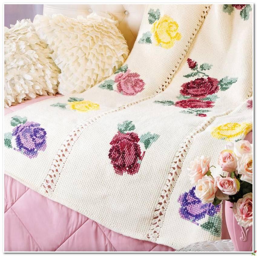 Crochet Knitting Handicraft Embroidery Roses