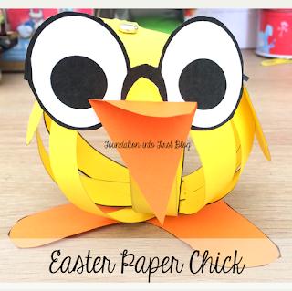 easter, paper, chick, techteacherpto3, foundation into first, template, download, teaching, teachers pay teachers,