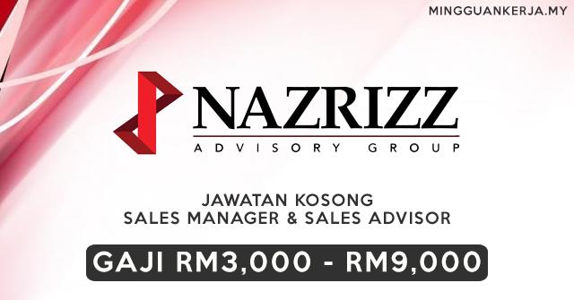 Jawatan Kosong Sales Manager & Sales Advisor ~ Gaji RM3,000 - RM9,000