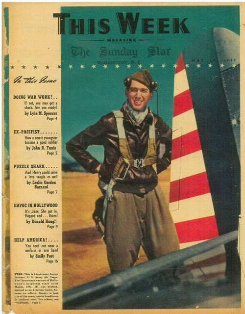 Jimmy Stewart on the cover of This Week on 17 May 1942 worldwartwo.filminspector.com