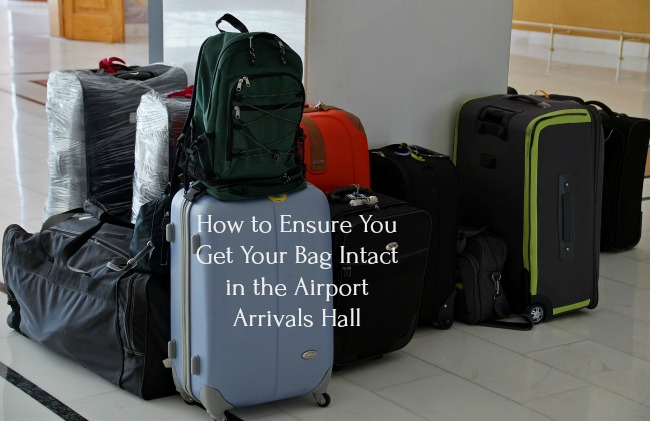 How-to-Ensure-You-Get-Your-Bag-Intact-in-the-Airport-Arrivals-Hall-text-over-image-of-luggage-on-floor